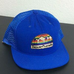 Vintage Denver Nuggets Rainbow NBA Snapback Hat
